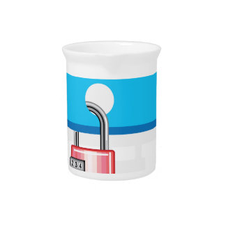 Combination lock to Cloud Networking Drink Pitcher