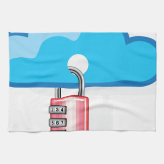 Combination lock to Cloud Networking Kitchen Towel