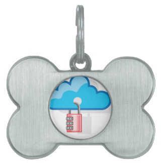 Combination lock to Cloud Networking Pet ID Tag