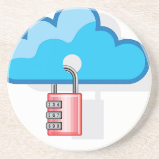 Combination lock to Cloud Networking Sandstone Coaster