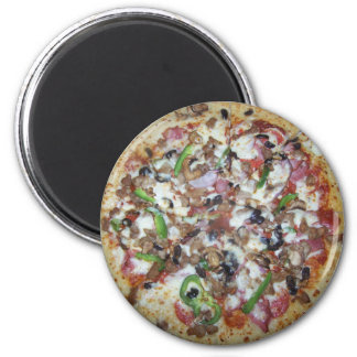 Combination Pizza 2 Inch Round Magnet