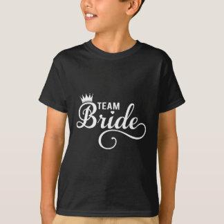 Combine a la novia, diseño blanco del texto para camisas