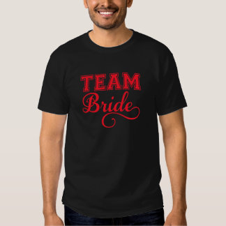 Combine a la novia, diseño rojo del texto del arte camisas