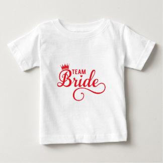 Combine a la novia, diseño rojo del texto del arte remera