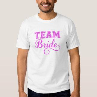Combine a la novia, diseño rosado del texto del poleras