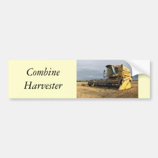 Combine Harvester Car Bumper Sticker