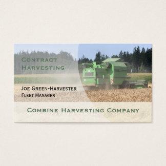 Combine Harvester business card