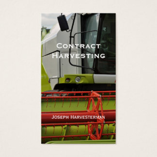 Combine Harvester cab and pickup Business Card