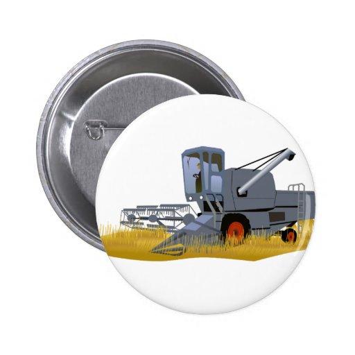 Combine Harvester Pinback Button