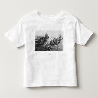 Combine Harvester Scene Tee Shirt