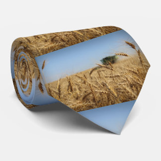 Combine in Wheat Field Neck Tie