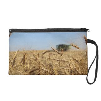 Combine in Wheat Field Wristlet