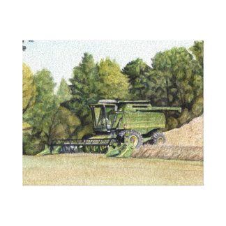 Combine Reaping Canvas Print