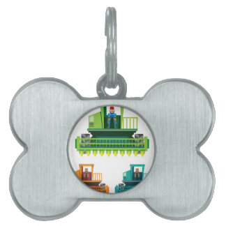 Combine with farmer inside Vector illustration Pet Name Tag