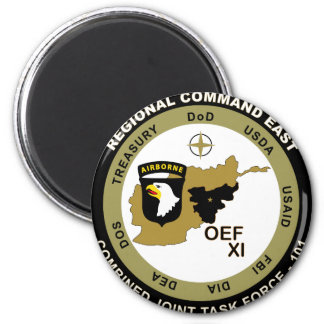 Combined Joint Task Force - Regional Command East 2 Inch Round Magnet