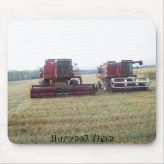 Combines in a Field Mouse Pad