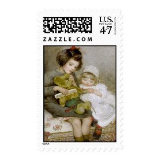 Combing Teddy Vintage Postage