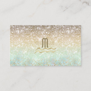 Combo Glitter Gradient Opal Gold ID435 Business Card