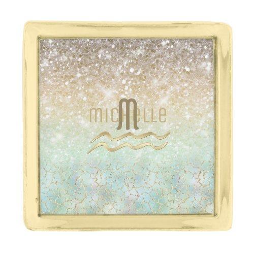 Combo Glitter Gradient Opal Gold ID435 Gold Finish Lapel Pin
