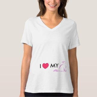 Combo: logo/pink cat, white fill T-Shirt