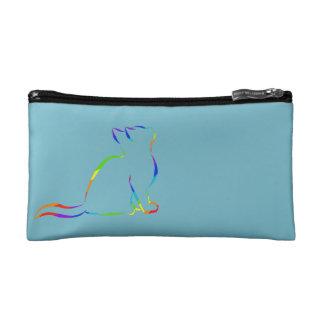 Combo: logo/rainbow silhouette makeup bag