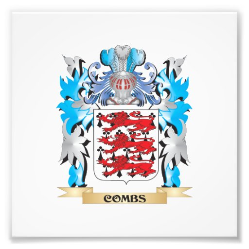 Combs Coat of Arms - Family Crest Art Photo