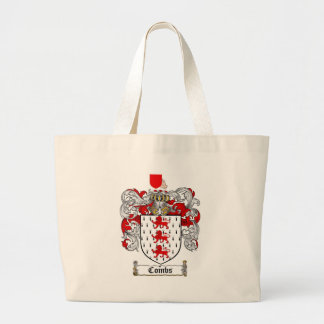 COMBS FAMILY CREST -  COMBS COAT OF ARMS LARGE TOTE BAG