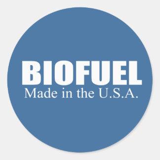 Combustible biológico - hecho en los E.E.U.U. Etiquetas Redondas
