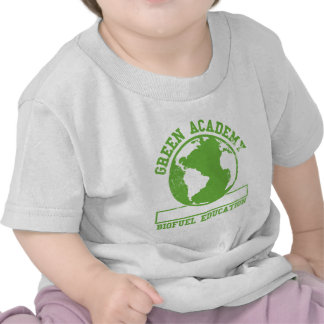Combustible biológico verde de la academia camisetas