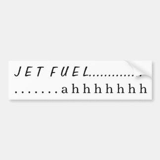 Combustible de avión….ahhhh pegatina para auto