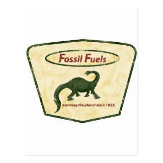Combustibles fósiles: ¡Calentando el planeta desde Postal