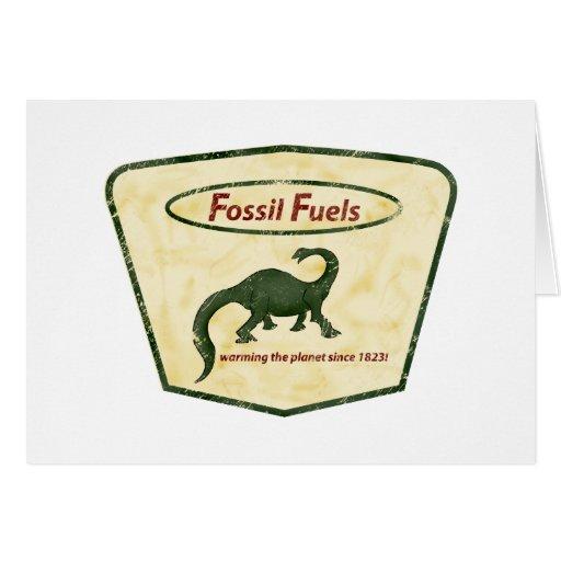 Combustibles fósiles: ¡Calentando el planeta desde Tarjeta De Felicitación