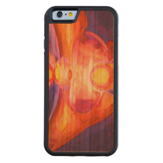 Combustion Painted Abstract Carved Cherry iPhone 6 Bumper Case