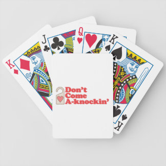 Come A-Knockin Bicycle Playing Cards