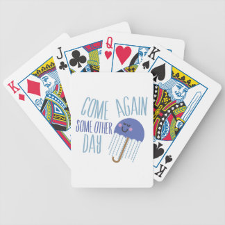 Come Again Bicycle Playing Cards