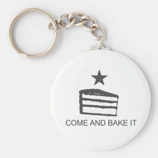 Come and Bake It Items Basic Round Button Keychain