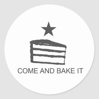 Come and Bake It Items Round Sticker