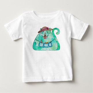 Come and garden with me Puff Cat Baby T-Shirt