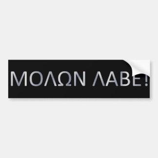 Come and get em car bumper sticker