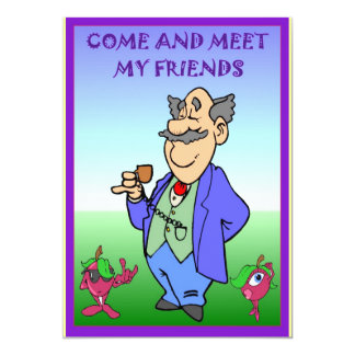 Come and meet my friends 5x7 paper invitation card