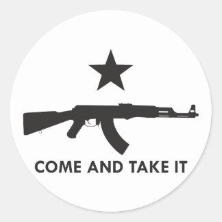 Come and take it! (AK47) Classic Round Sticker