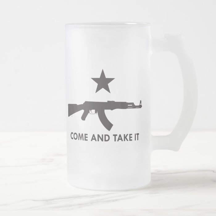 Come and take it! (AK47) Frosted Glass Beer Mug