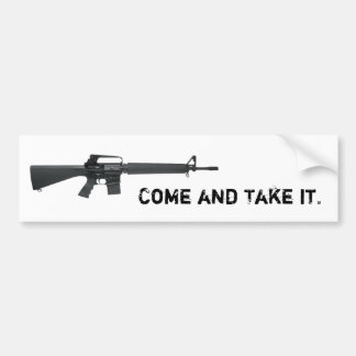 Come And Take It AR Bumper Sticker
