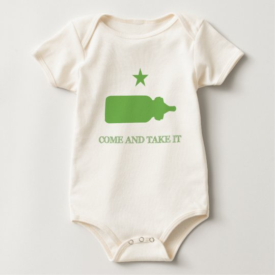 Come and Take it Bottle Green Baby Bodysuit