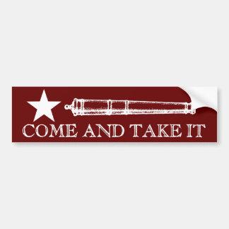Come and Take It Car Bumper Sticker