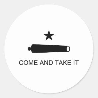 Come and Take It Classic Round Sticker