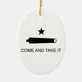 Come and Take It Flag Ceramic Ornament