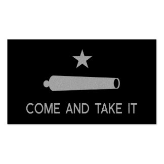 Come and Take It Flag Double-Sided Standard Business Cards (Pack Of 100)