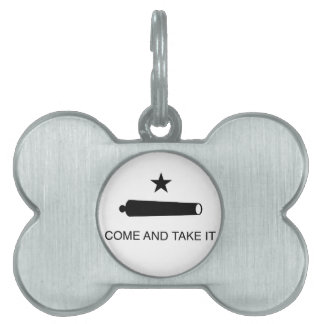 Come and Take It Flag Pet Name Tag