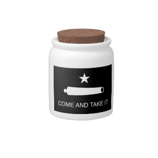 Come and Take It Flag (Reversed) Candy Jar